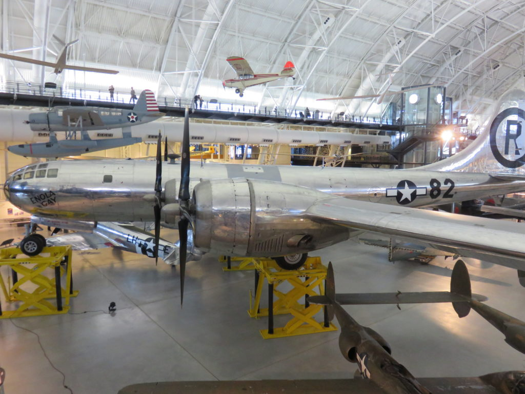 Boeing B-29 (Enola Gay) used in World War II - Dropped first atomic bomb on Hiroshima, Japan